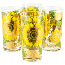 Georges Briard Sunflower Collins Glasses | The Hour Vintage