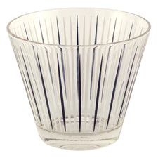 Black & White Stripe Glass Ice Bucket | The Hour Vintage Barware