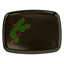 Couroc Holly Leaf & Berry Tray | The Hour Vintage Home Decor