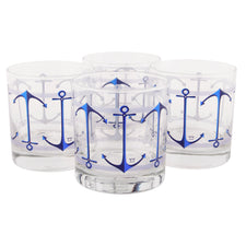 The Modern Home Bar Anchors Aweigh Rocks Glasses