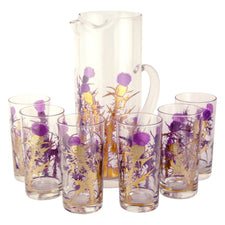 Vintage Gregory Duncan Gold & Purple Thistle Pitcher Set