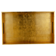Rectangular Gold Leaf Lacquer Tray | The Hour Shop Bar Decor