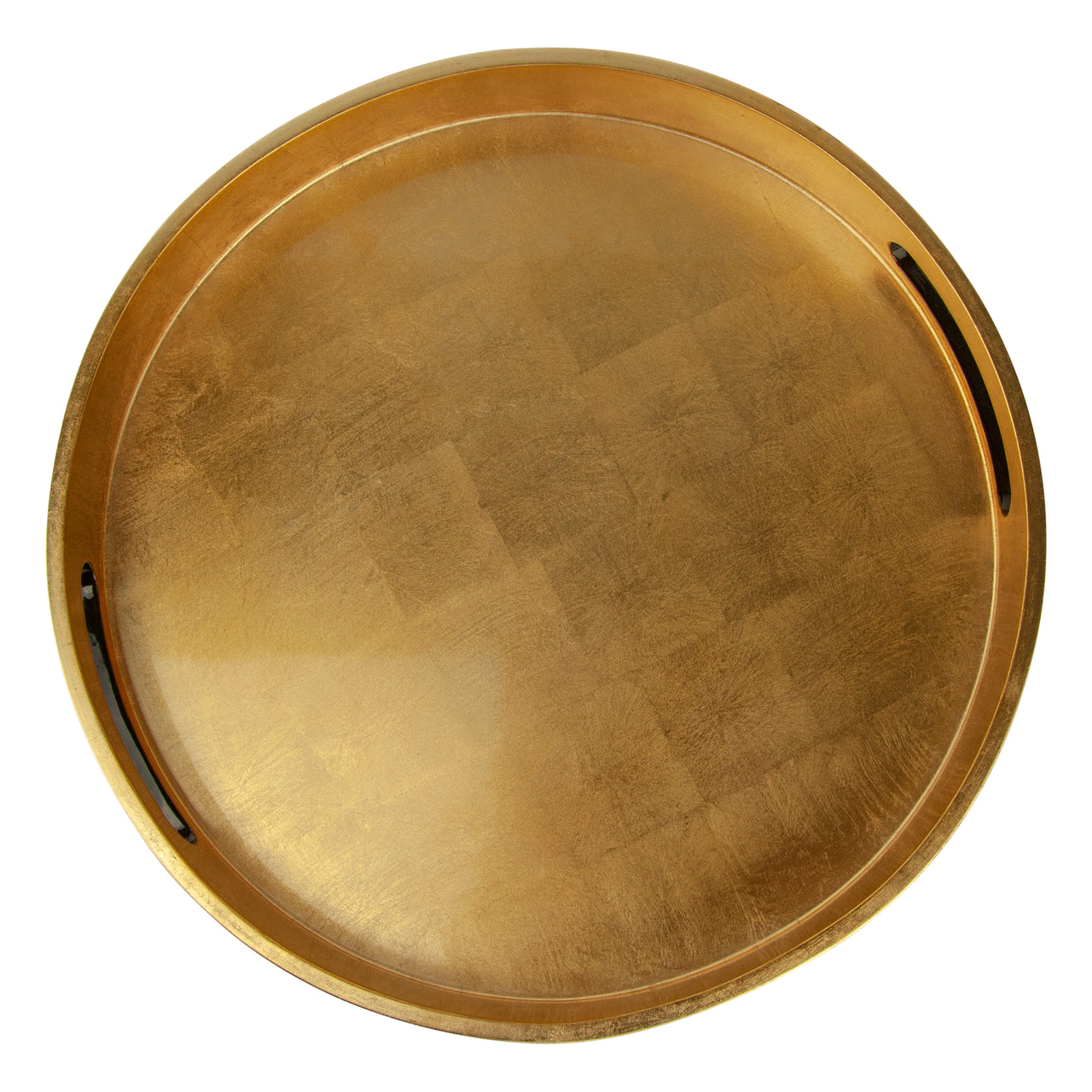 Round Gold Leaf Lacquer Tray
