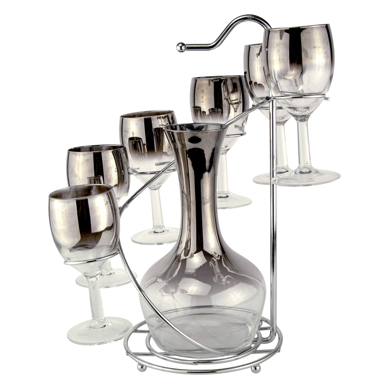 Mercury Fade Wine Decanter Spiral Caddy | The Hour Vintage