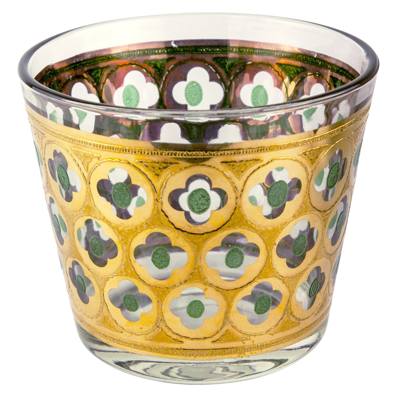 Gold & Green Flower Cut Out Ice Bucket | The Hour Vintage