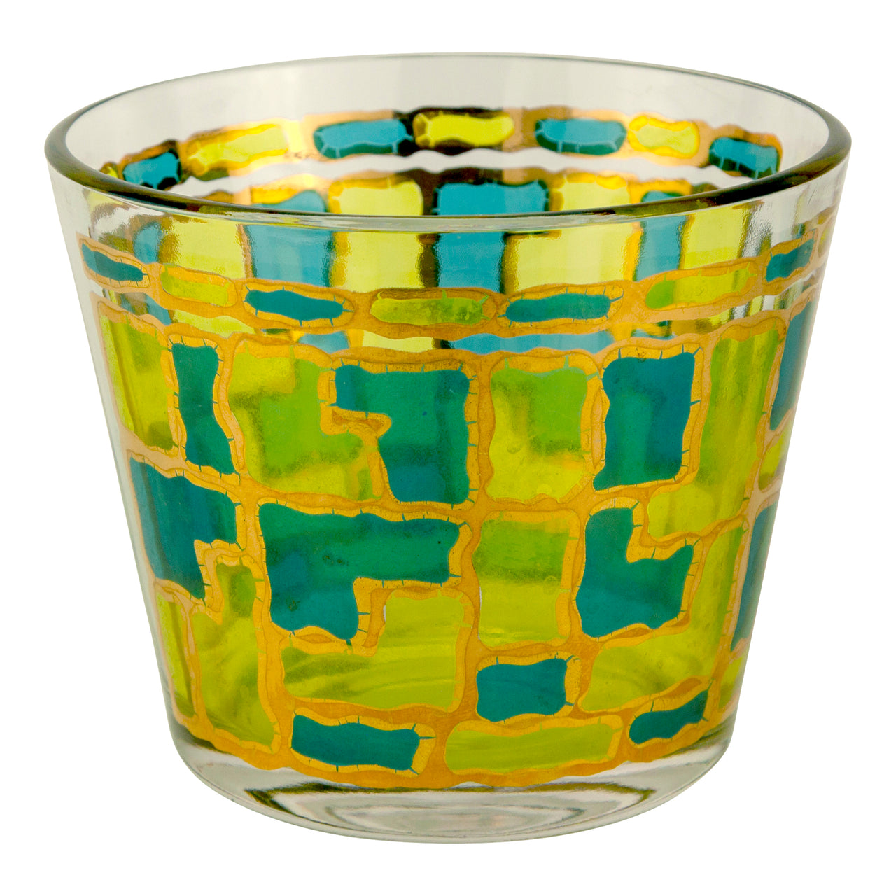 West Virginia Glass Mosaic Ice Bucket | The Hour Vintage Barware