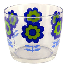 Royal Kendall Blue & Green Flower Ice Bucket | The Hour Vintage