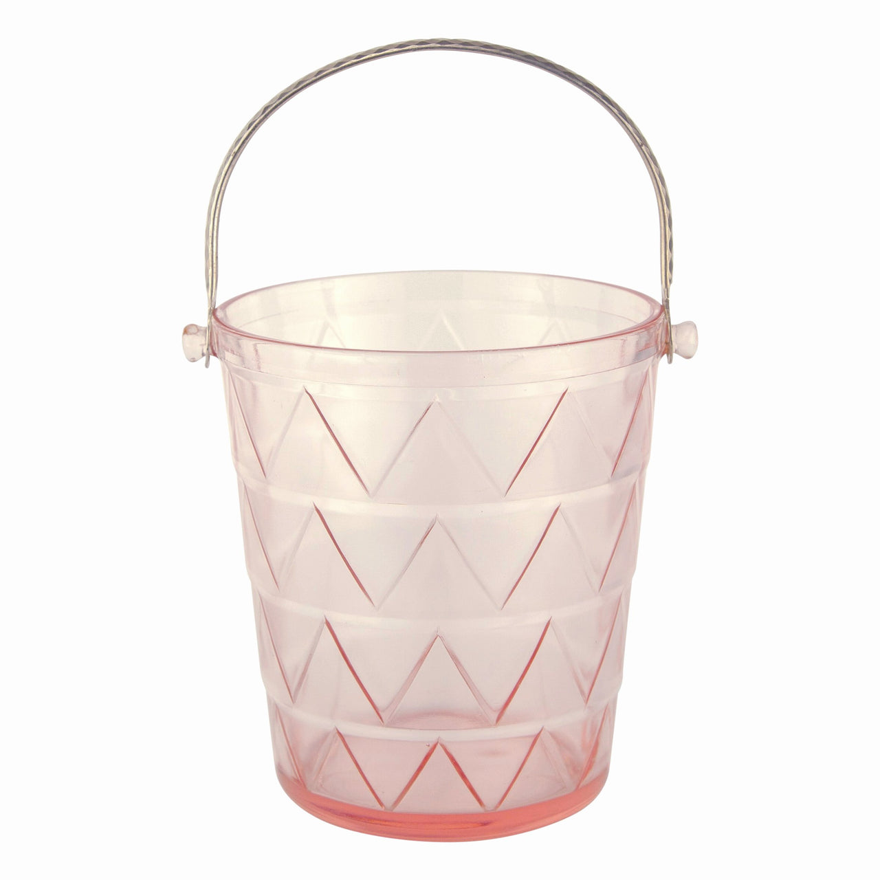 Art Deco Pink Glass Ice Bucket | The Hour Vintage Barware