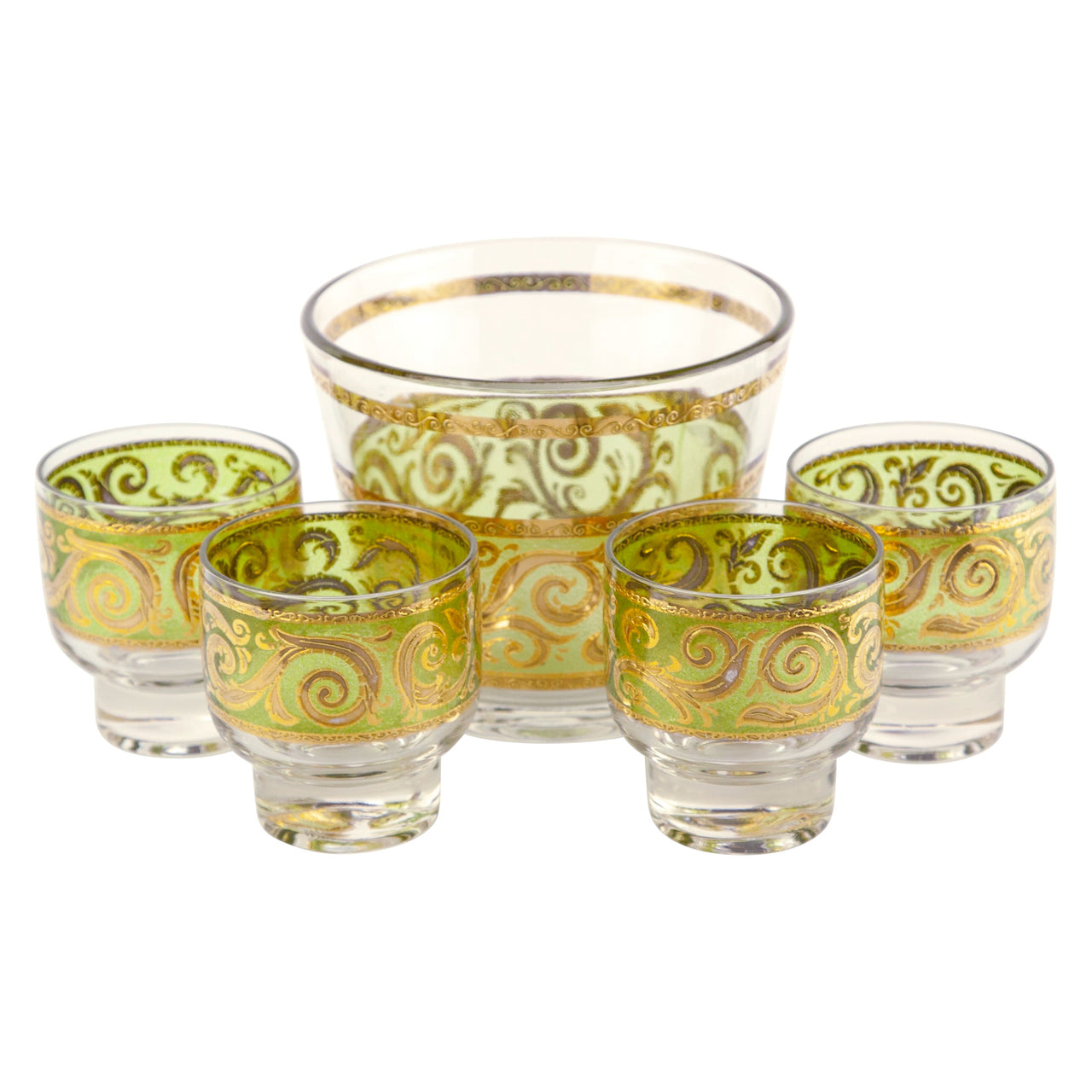 Culver Green & Gold Ice Bucket Set | The Hour Shop Vintage