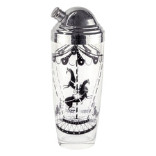 Vintage Circus Theme Horse Poodle Cocktail Shaker | The Hour Shop