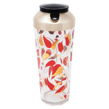 Vintage Red and Gold Leaves Cocktail Shaker | The Hour Shop