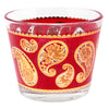Vintage Culver Red & Gold Paisley Ice Bucket | The Hour