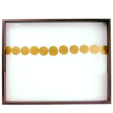 Gold Dot Reverse Painted Glass Tray | The Hour Home Bar Decor