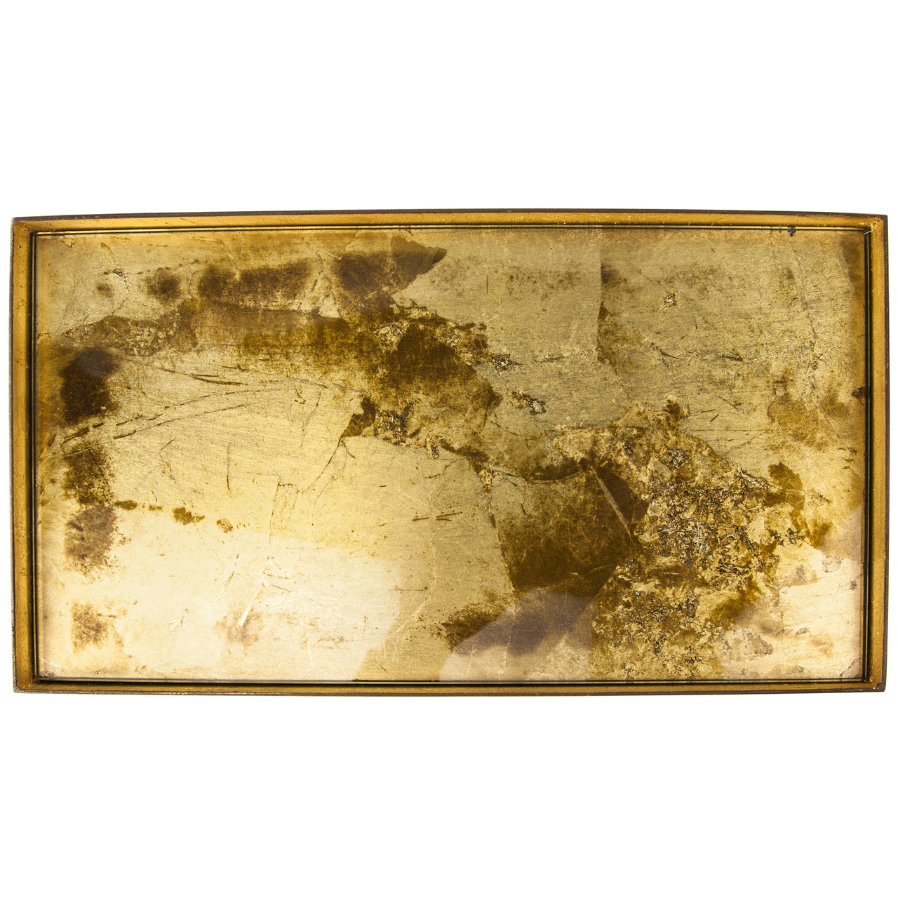 Gold Foil 2 Drink Glass Tray | The Hour Shop Home Bar Decor