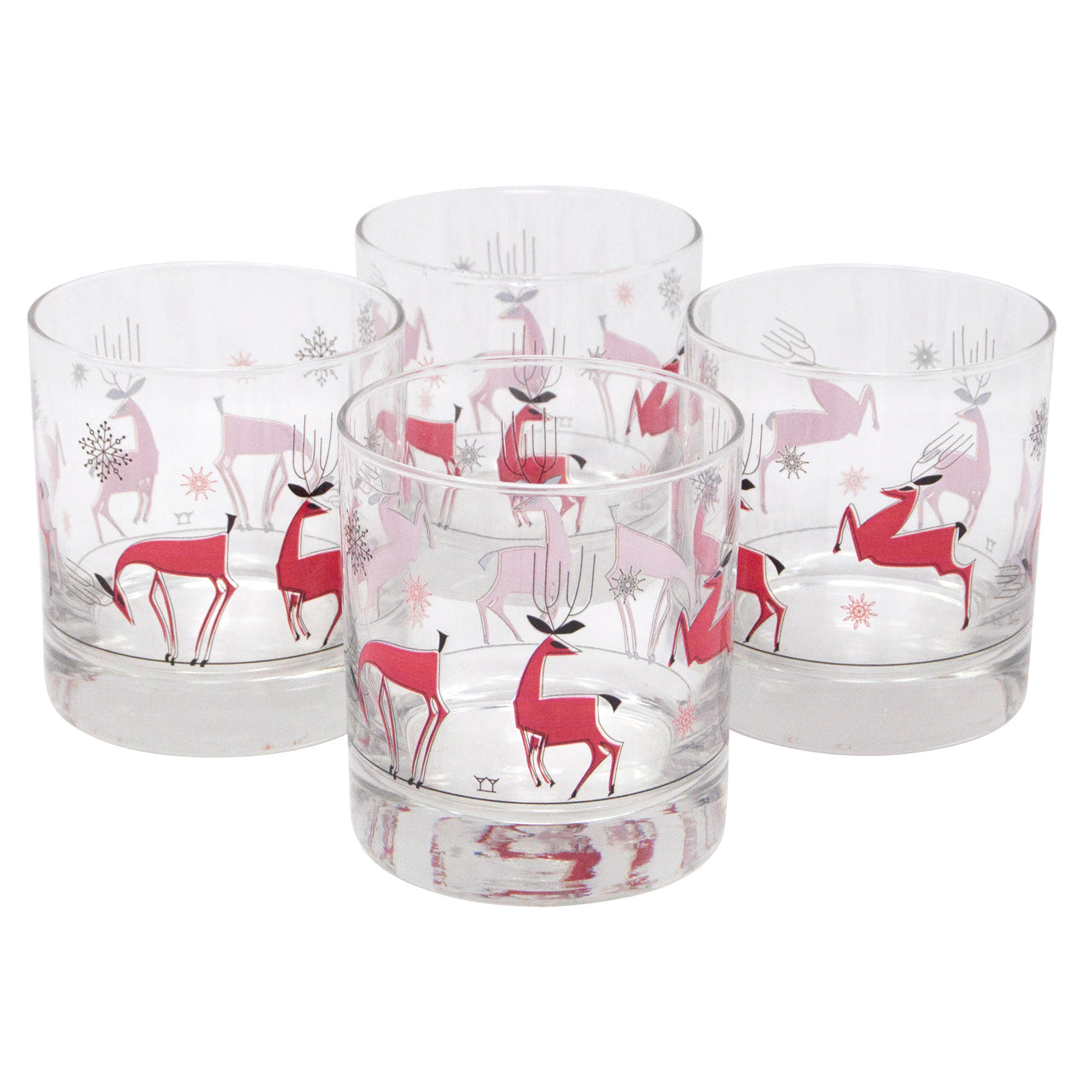 The Modern Home Bar Reindeer Games Rocks Glasses