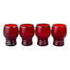 Art Deco Ruby Red Platinum Ring Tumblers | The Hour Vintage