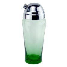 Vintage Green Glass Cocktail Shaker | Home Barware, The Hour