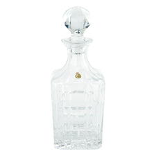 Vintage W. German Cut Lead Crystal Block Decanter | Barware