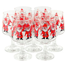 Georges Briard Santa Wine Glasses