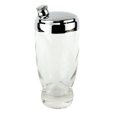 Mini Clear Swirl Glass Cocktail Shaker