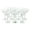 Vintage Fostoria Cut Crystal Cocktail Champagne Coupe Glasses