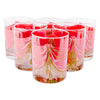 Georges Briard Pink Curtain Rocks Glasses