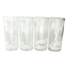 Vintage White Palm Tree Tropical Tiki Island Collins Glasses