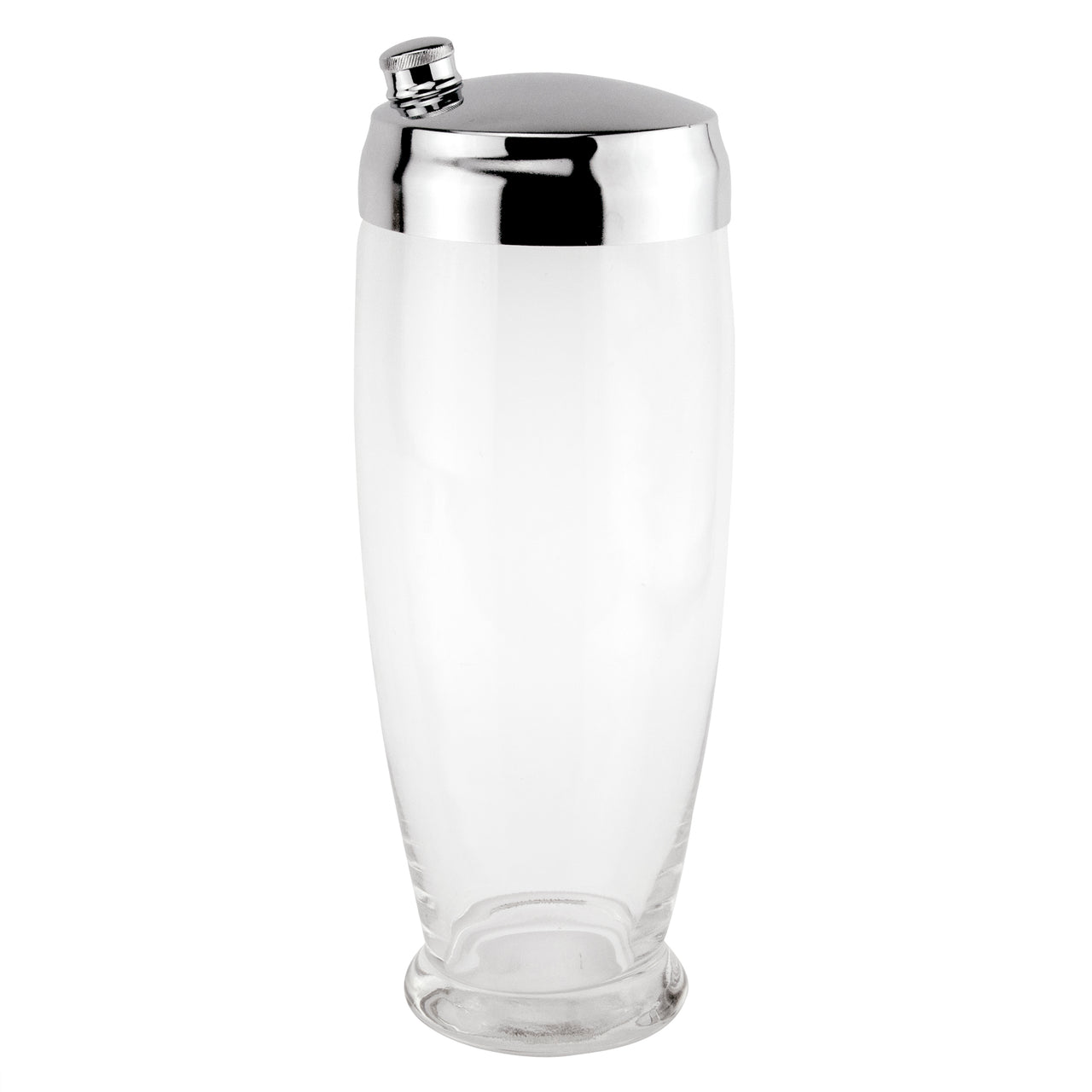 Clear Glass Footed Cocktail Shaker