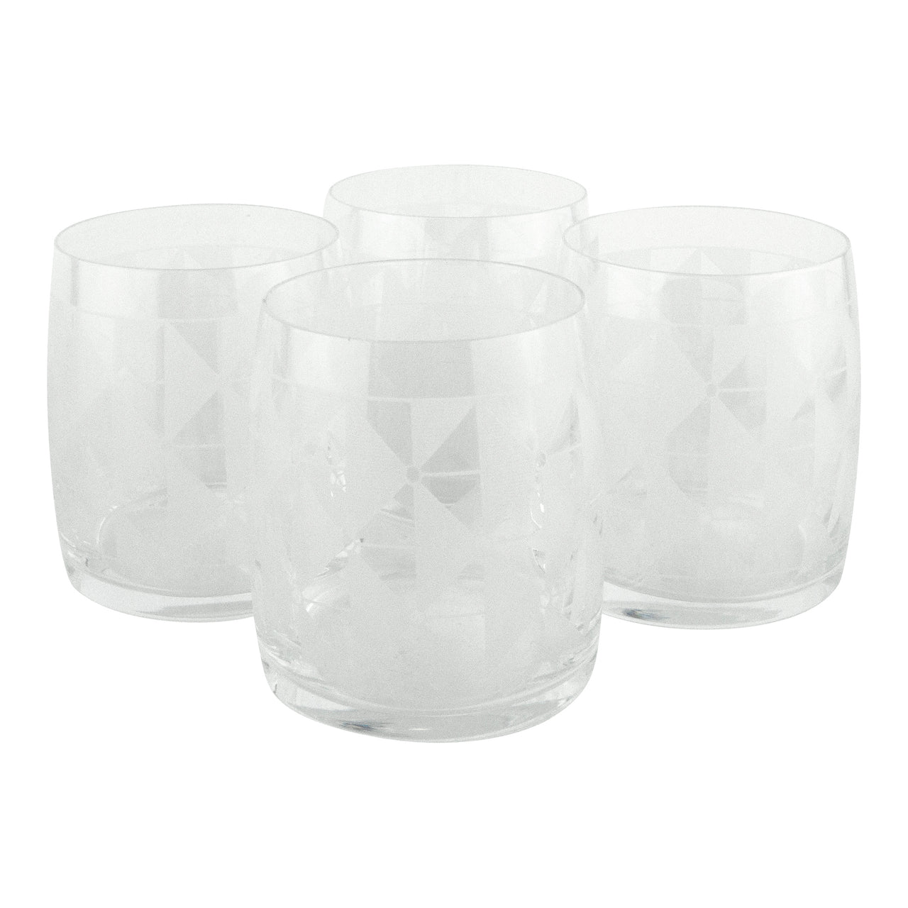 The Modern Home Bar Deco Diamonds Lo Ball Glasses