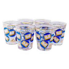 Blue Chips Stock Market Double Rocks Glasses