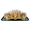 Vintage Ceraglass 24k Gold Ornament Cocktail Set on Tray | The Hour