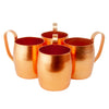 Vintage Copper Colored Aluminum Moscow Mule Mugs