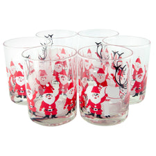 Vintage Georges Briard  Santa Double Rocks Glasses | The Hour
