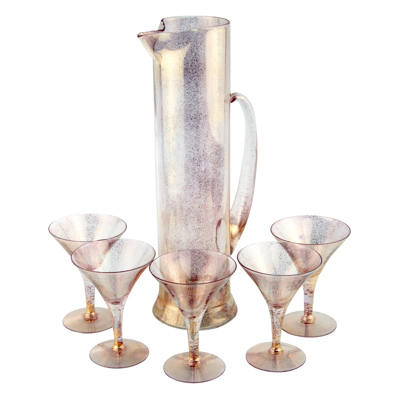 Vintage Gold Shimmer Empire Cocktail Pitcher Set | The Hour