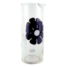 MCM Vintage Colony Mod Black & White Flower Cocktail Pitcher