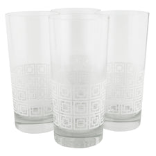 The Modern Home Bar Breezeway White Collins Glasses