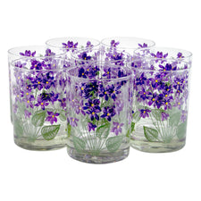 Vintage Cera Violet Flower Rocks Glasses | The Hour Shop