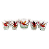 Hazel Atlas 9 Pc. Pheasant Ice Bucket Set