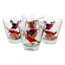 Vintage Hazel Atlas Pheasant Double Old Fashioned Glasses