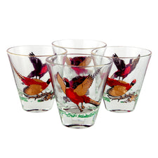 Vintage Hazel Atlas Pheasant Single Old Fashioned Glasses