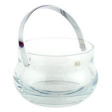 Boda Clear Glass Ice Bucket with Handle | The Hour Barware