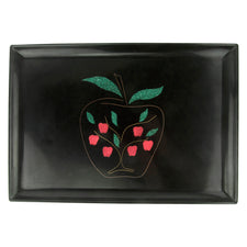 Vintage Couroc Red Apple Tree Rectangular Tray | The Hour Shop