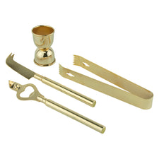 Vintage Gold Plated Shelton-Ware Bar Tool Set | The Hour