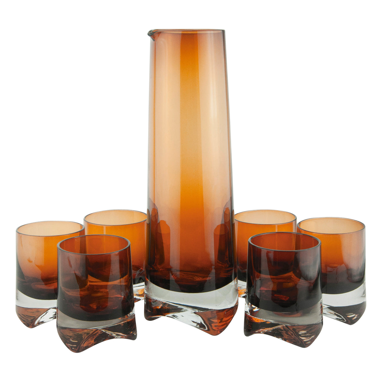 MCM Vintage Denby Brown Cocktail Pitcher Set |The Hour