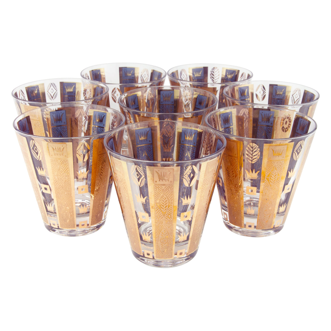 Georges Briard Gold Crowns & Bars Glasses