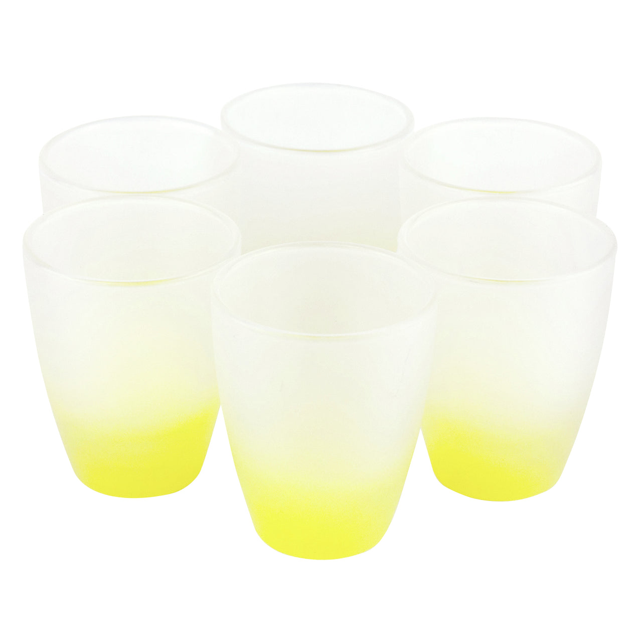 Yellow Frosted Yellow Shot Glasses