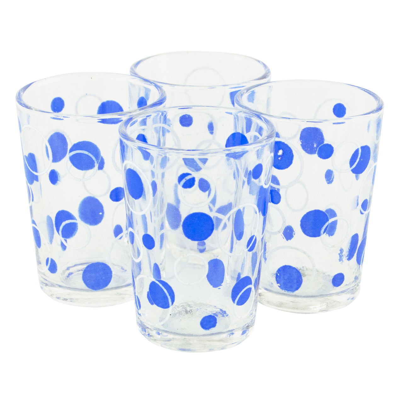 Blue Dots French Shot Glasses