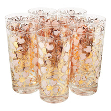 Fred Press Pink Dogwood Collins Glasses