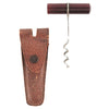 Leather Cased Red Lucite Handle Travel Corkscrew | The Hour