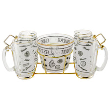 Vintage Starlyte Beer Mugs & Pretzel Bowl Caddy Set | The Hour Shop